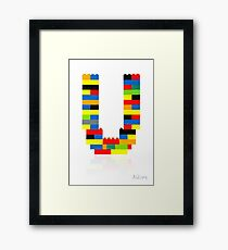 U Framed Print