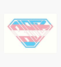 Black SuperEmpowered (Pink, Blue White) Art Print
