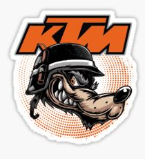 KTM Racing Motorcross Dirt Bike Rider Sticker