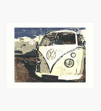 VW Splt Screen Camper 1 Art Print