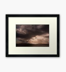 The Heavens are Opening Framed Print