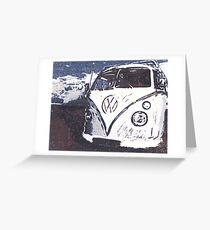 VW Splt Screen Camper 2 Greeting Card