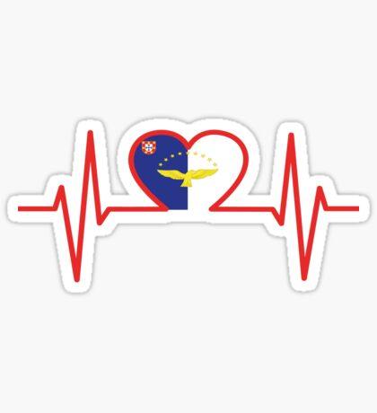 Azoren Flagge im Herz Sticker