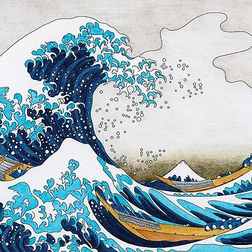 Great wave of Kanagawa Inspired - Adult Colouring | COLOURING - ARTWORKS CARD by mcaussieb