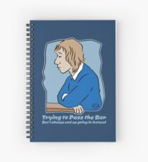 Trying to Pass the Bar Spiral Notebook