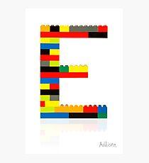 E Photographic Print