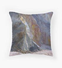 Alum Bay cliffs, Isle of Wight Throw Pillow