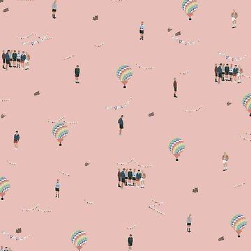 BTS Young Forever Ilustración Patrón - Rosa de imgoodimdone