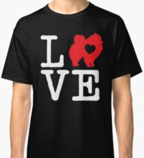 Pomeranian Dog Valentines Day Gifts Classic T-Shirt
