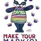 Make Your Mark(s) - Animals of Inspiration Panda Illustration by mellierosetest