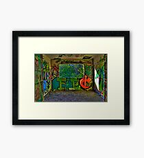 Graffiti Room with Forest View Framed Print