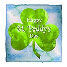 Happy St. Paddy's Day - Watercolor by LaRoach