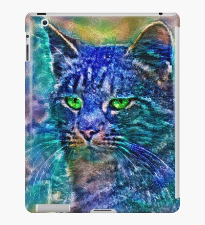 Artificial neural style Blue cat avatar iPad Case/Skin