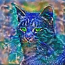 Artificial neural style Blue cat avatar by blackhalt