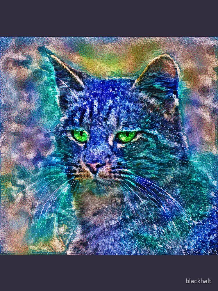 Artificial neural style Blue cat avatar by blackhalt