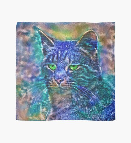 Artificial neural style Blue cat avatar Scarf