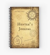 New! Supernatural Hunter's Journals! Spiral Notebook