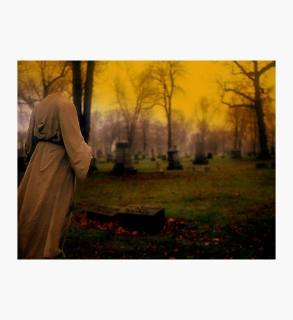A cemetery in Michigan Photographic Print