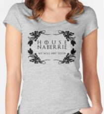 House Naberrie (black text) Women's Fitted Scoop T-Shirt