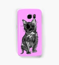 Saphira the cat Pixel sketch Samsung Galaxy Case/Skin