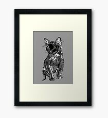 Saphira the cat Pixel sketch Framed Print