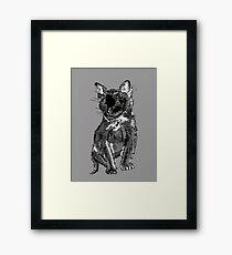Saphira the cat Pixel sketch Framed Print