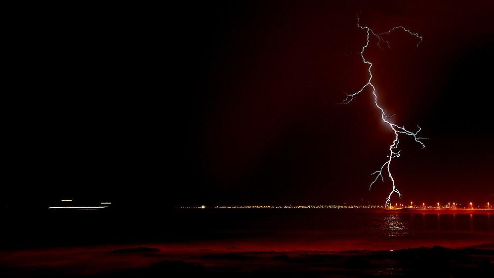 Red Bolt - Cape Town by Simon Gottschalk