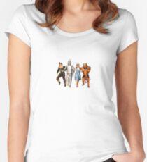 Scarecrow, Tin Man, Dorothy und der Feige Löwe Tailliertes Rundhals-Shirt