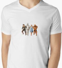Scarecrow, Tin Man, Dorothy, and the Cowardly Lion Men's V-Neck T-Shirt