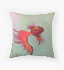 Concerned fish Throw Pillow