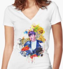 J-HOPE X SICK Women's Fitted V-Neck T-Shirt