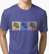 Three Little Robots Tri-blend T-Shirt