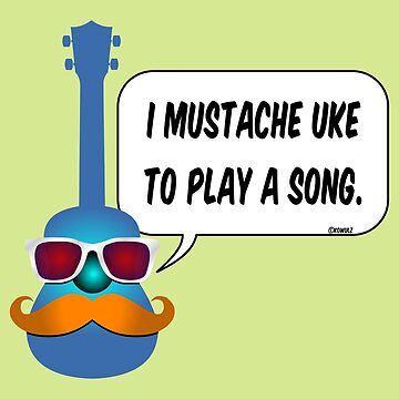 Mustache Uke by Kowulz