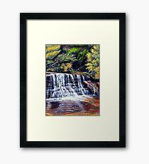 Cascades, Blue Mountains Framed Print