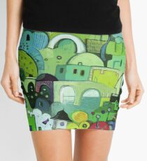 My Way Is Green Mini Skirt