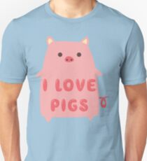 I Love Pigs Cute T Shirt Unisex T-Shirt