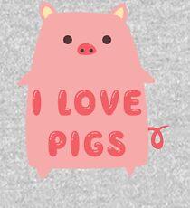 I Love Pigs Cute T Shirt Kids Pullover Hoodie