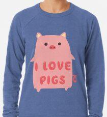 adef0313 I Love Pigs Cute T Shirt Lightweight Sweatshirt