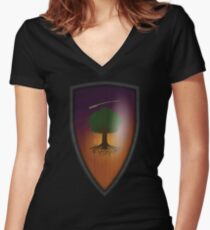 Ser Duncan the Tall: The Hedge Knight Variant Women's Fitted V-Neck T-Shirt