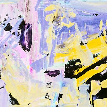 painting, contemporary art. Gouache acrylic tempera paint, abstract texture hand drawn. blue gray purple pink yellow black by EkaterinaP