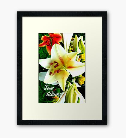 Easter Blessings. Framed Print