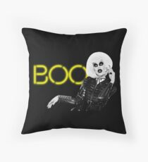 Boo! - Sharon Needles Throw Pillow