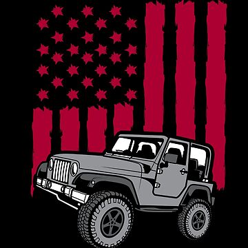 4x4 Off Road USA Flag Jeep Owner by japdua