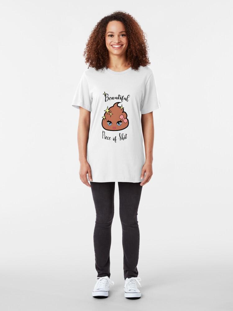 Alternative Ansicht von Schönes Stück Scheiße Slim Fit T-Shirt