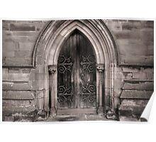 Hallow Church Door Poster