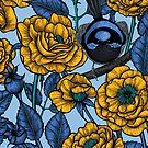 Wren in the roses by Katerina Kirilova