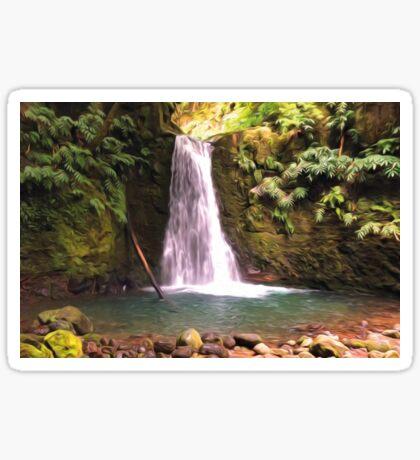 Faial de Terra Wasserfall Azoren Sticker