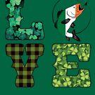 Irisches Flaggen-Fischen-Hemd-Irland-Shamrock-Vintage Liebes-Geschenke von Meditart Geld