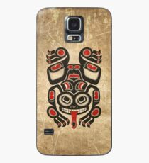 Red and Black Haida Spirit Tree Frog Case/Skin for Samsung Galaxy