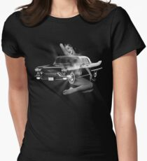 Marilyn Monroe, Cadillac Eldorado  Women's Fitted T-Shirt